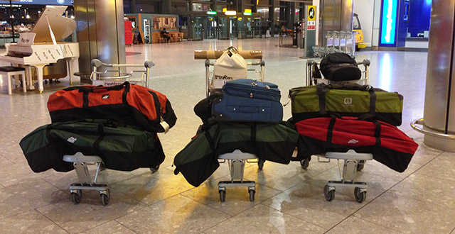 5,500 Maps in Bags at Heathrow